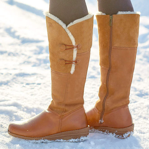Plus Size  Comfortable Round toe Winter Warm Boots
