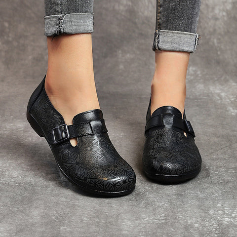 Women's soft leather flats