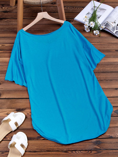Shift Women Daily Short Sleeve  Solid Summer Dress