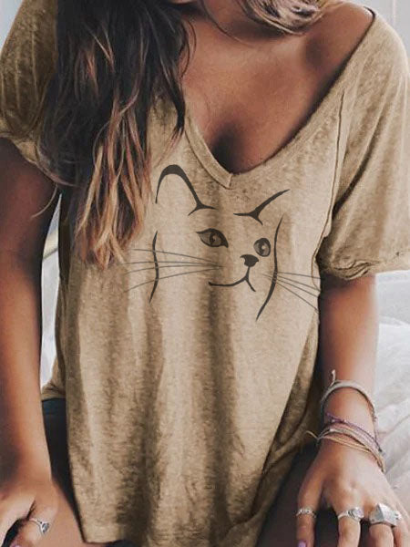 Casual Animal Shirts & Tops