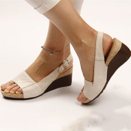Women Elegant Low Wedges Heel Comfy Sandals
