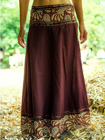 Printed Casual Cotton-Blend Skirts