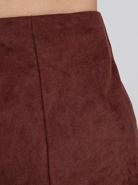 Casual Faux Suede Skirt