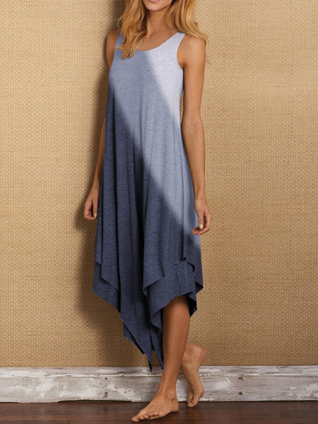 Sleeveless gradient Casual Dresses