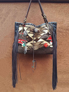 Gray Pu Boho Shoulder Bags