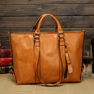 Women High Capacity Stylish PU Leather Messenger Bag Socialite Handbag