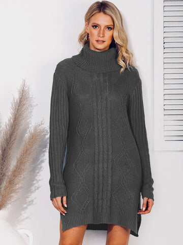 Casual Turtleneck Shift Sweater