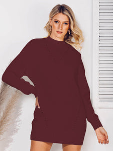 Solid Casual Crew Neck Sweater