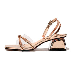 Open Toe Middle Heel Summer Sandals