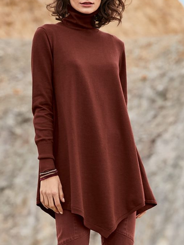Long Sleeve Casual Turtleneck Plus Size Sweatshirts