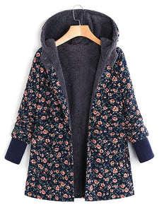 Floral Long Sleeve Cotton Casual Outerwear