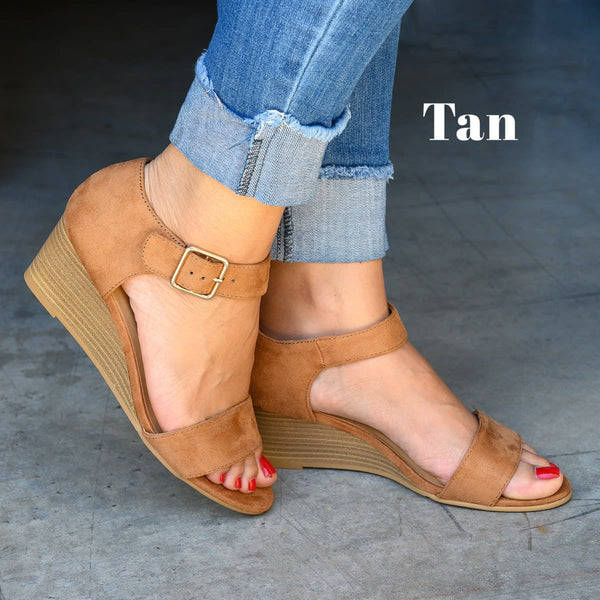 Daily Low Heel Wedge Sandals