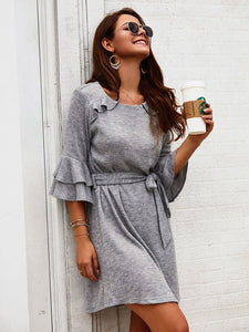 Womens Fall Clothing Women Dresses Cotton-Blend Dresses