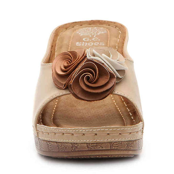 Wedge Sandals Spring/fall Flower Slide Sandals