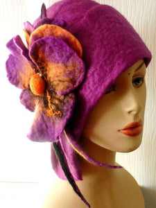 Fuchsia Casual Cozy Hats