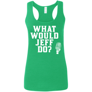 What Would Jeff Do? Logo - Ladies Tank