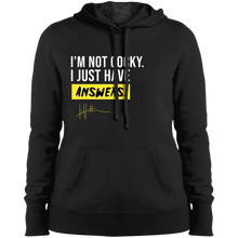 Load image into Gallery viewer, I'm not cocky. I just have answers - Ladies Sweatshirt