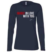 Load image into Gallery viewer, Madly In Love With You - Ladies Long-sleeve Tee