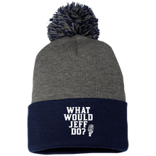 Load image into Gallery viewer, WWJD? Pom Pom Knit Cap