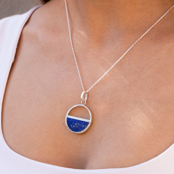 Half Moon Lapis Necklace