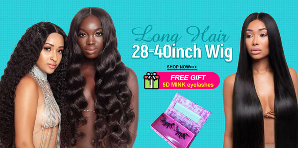 ashimary long wigs 28-40 inch wigs human hair lace front wig for black women