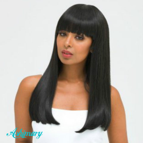 Ashimary human hair wig with bangs straight wigs