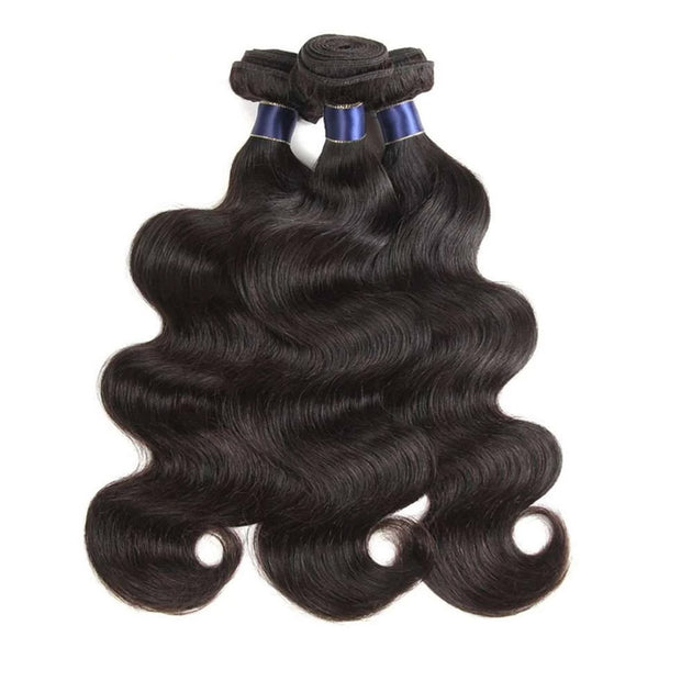 3 Bundles 9A Body Wave Human Hair Bundles Natural Color - ashimaryhair