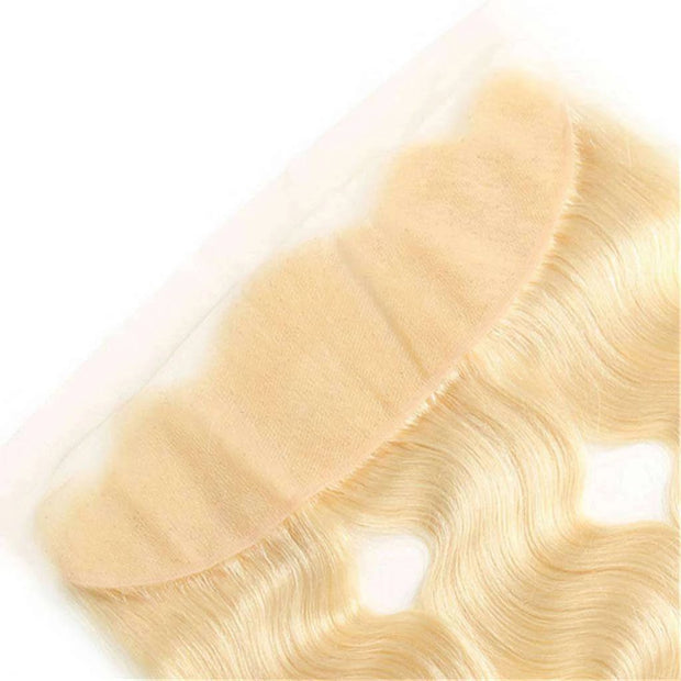 613 Blonde Body Wave Hair Lace Frontal Closure 13x4Inchs 100% Human Hair Free Shipping - ashimaryhair