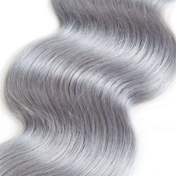 Ombre Grey Hair Bundle Body Wave 100% Human Hair - ashimaryhair
