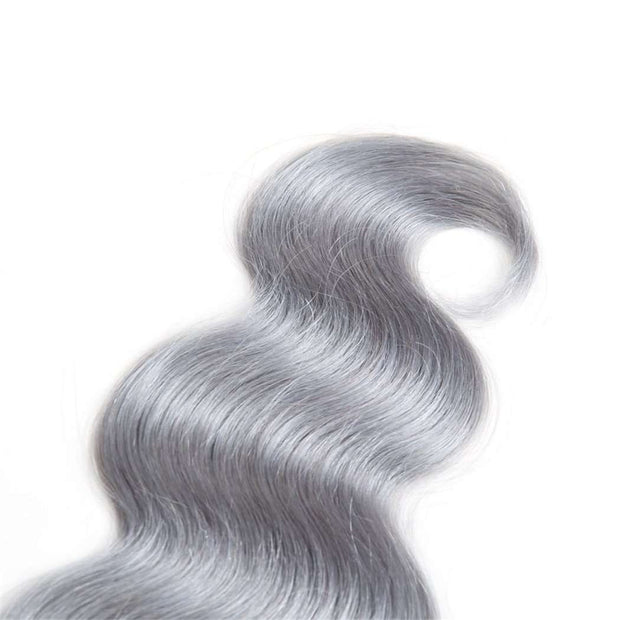 4 Bundles Grey Ombre Hair Body Wave Brazilian Human Hair Bundles - ashimaryhair