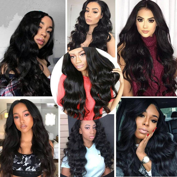 4 Bundles 10A Body Wave Brazilian Human Hair Bundles Natural Color - ashimaryhair