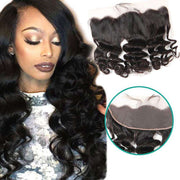 Loose Wave Hair Lace Frontal 13x4Inchs 100% Virgin Human Hair Free Shipping - ashimaryhair