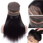 Pre Plucked 360 Lace Frontal Wig with Baby Hair Brazilian Straight Hair - ashimaryhair