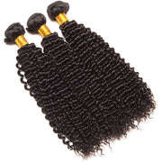 4 Bundles 10A Kinky Curly Hair Human Hair Bundles Natural Color - ashimaryhair