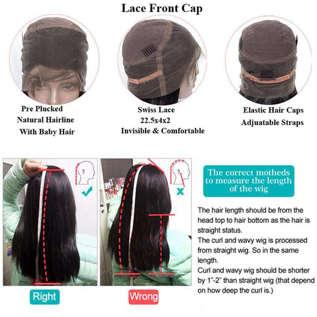 Pre Plucked 360 Lace Frontal Wig with Baby Hair Brazilian Body Wave-AshimaryHair.com