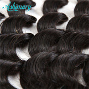 Loose Deep Wave Hair Lace Frontal 13x4Inchs Natural Color 100% Human Hair Free Shipping - ashimaryhair