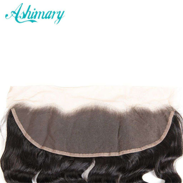 Loose Deep Wave Hair Lace Frontal 13x4Inchs Natural Color 100% Human Hair - ashimaryhair