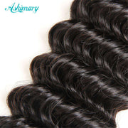Luxurious Deep Wave 4 Bundles With Closure Natural Color - ashimaryhair