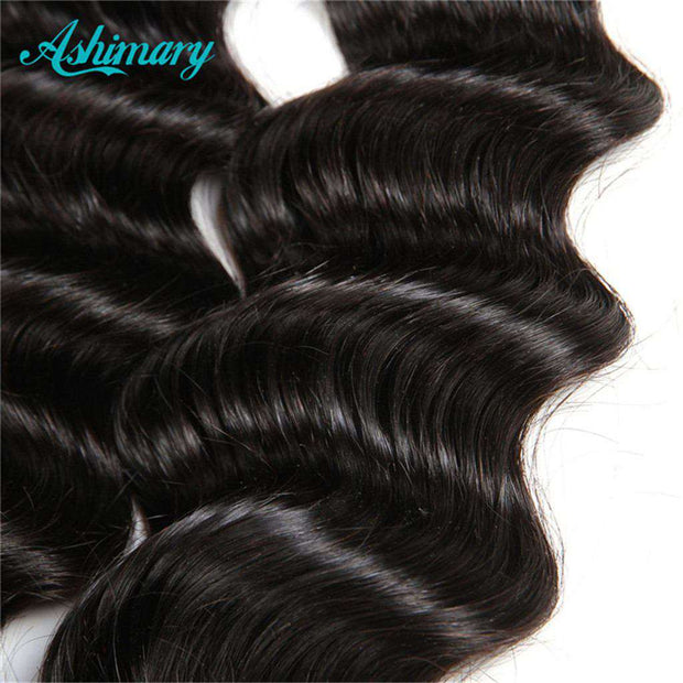 Loose Deep Wave Hair Bundles 9A 100% Human Hair Natural Color - ashimaryhair