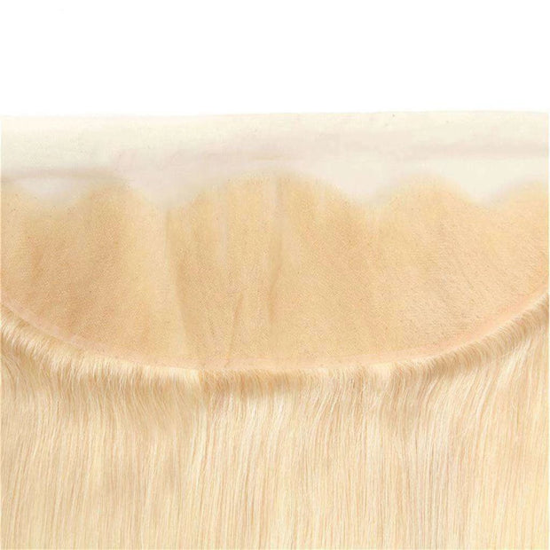 613 Blonde Hair Lace Frontal Closure 13x4Inchs 100% Human Hair Free Shipping - ashimaryhair