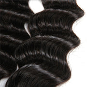 3 Bundles 9A Loose Deep Wave Human Hair Bundles Natural Color - ashimaryhair