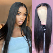 Glueless 4x4 Closure Wig Straight Brazilian Hair- Ashimary Hair