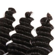 4 Bundles 9A Loose Deep Wave Indian Human Hair Bundles Natural Color - ashimaryhair