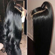 Ashimary Hair Glueless 5*5 Lace Closure Wig With Baby Hair,14-30 inch Natural Black Long Human Hair Wigs Brazilian Straight Hair