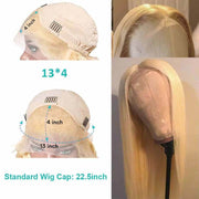 613 Honey Blonde Lace Front Wigs 13*4 Lace Wigs Straight Brazilian Human Hair-AshimaryHair.com