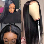 Ashimary Hair Offers Affordable 6*6 Lace Closure Wig Pre Plucked With Baby Hair,12-30 inch Natural Black Long Human Hair Wigs On Sale For Beauty Black Women