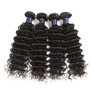 Deep Wave Hair Bundles 9A Brazilian Human Hair Natural Color - ashimaryhair