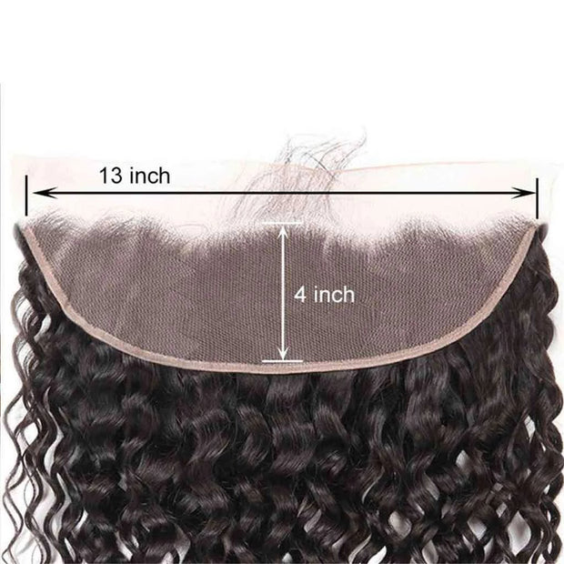 9A Grade Water Wave 3 Bundles With Frontal Malaysian Virgin Hair - ashimaryhair