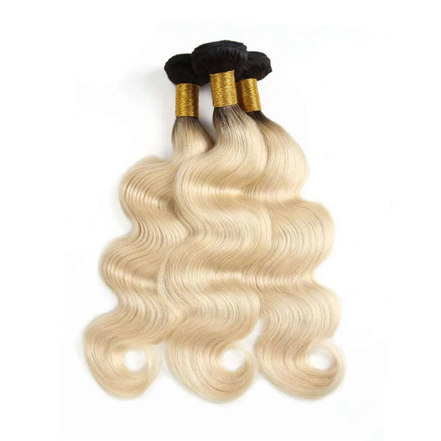 Hair Bundles 1b/613 Ombré Blonde Hair Body Wave Brazilian Human Hair - ashimaryhair