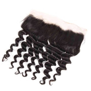 9A Grade Loose Deep Wave 3/4 Bundles With Frontal Brazilian Virgin Hair - ashimaryhair